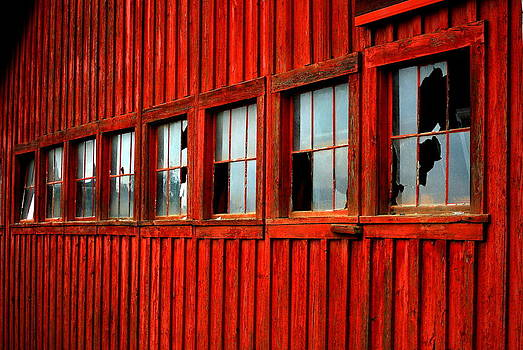 Weathered Windows by Mamie Gunning