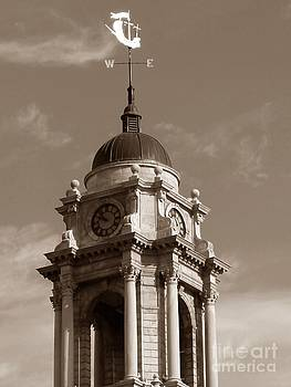 Christine Stack - Weathervane and Tower of City Hall in Downtown Portland Maine