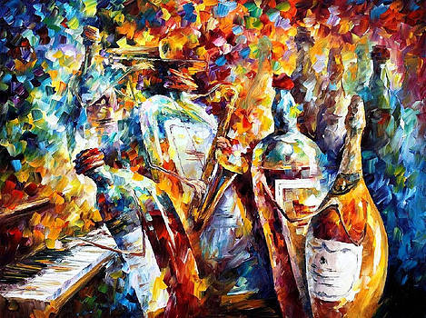 Wedding Anniversary - PALETTE KNIFE Oil Painting On Canvas By Leonid Afremov by Leonid Afremov