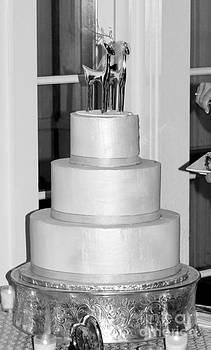 Wedding Cake B W by Denise Jenks