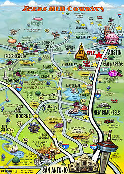 Kevin Middleton - Wedding Cartoon Map