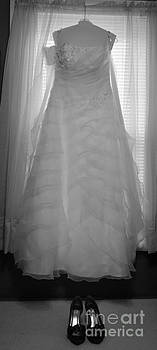 Wedding dress and shoes by Denise Jenks