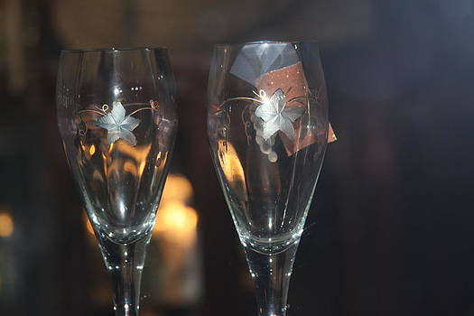 Wedding Glasses by Donald Torgerson