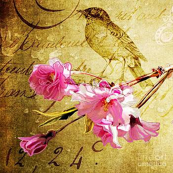 Weeping Cherry Vintage  by Sharon Marcella Marston
