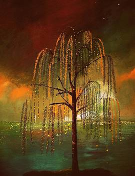 Weeping willow by Milenka Delic