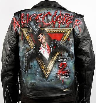 Welcome 2 My Nightmare Leather jacket by Danielle Vergne by Danielle Vergne