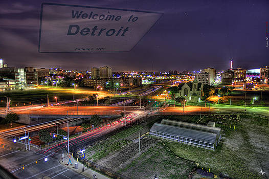 Welcome To Detroit Mi by A And N Art