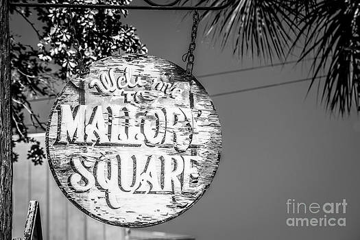 Ian Monk - Welcome to Mallory Square Key West 2  - Black and White