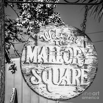 Ian Monk - Welcome to Mallory Square Key West 2  - Square - Black and White