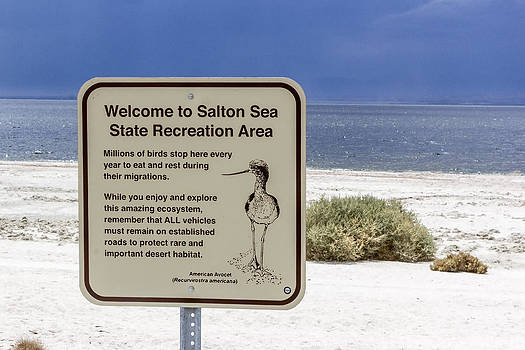 Welcome To Salton Sea by Photographic Art by Russel Ray Photos