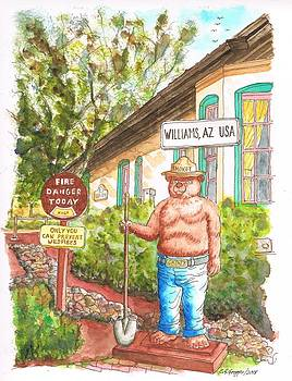 Smokey, Welcome To Williams, Route 66, Williams, Arizona by Carlos G Groppa