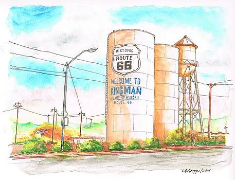 Welcome To Kingman, Route 66, Andy Devine Ave., Kingman, Arizona by Carlos G Groppa