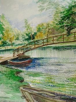 Weldon Springs Footbridge by J Anthony Shuff