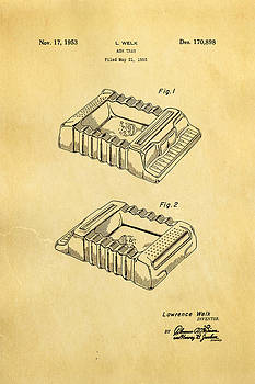 Ian Monk - Welk Accordian Ash Tray Patent Art 1953
