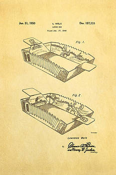 Ian Monk - Welk Accordion Lunch Box Patent Art 1950