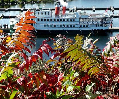 Gail Matthews - Wenonah II Steamship in Fall