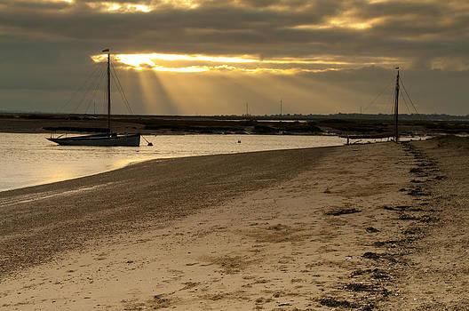 West Mersea beach by David Isaacson