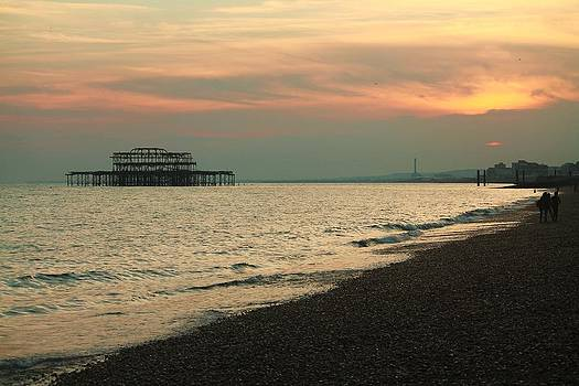 West Pier at Sunset by Tom Hard