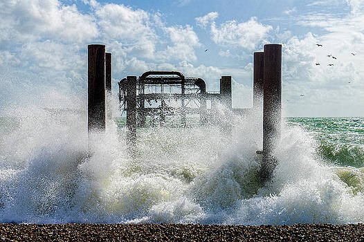 West Pier Ruins by Chris Lord