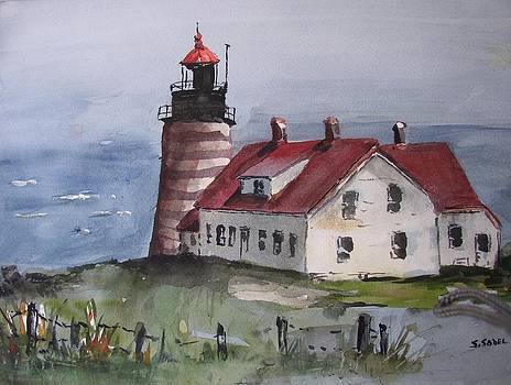 West Quoddy Light by Stephanie Sodel