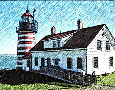 Art  MacKay - West Quoddy Lighthouse Lubec Maine