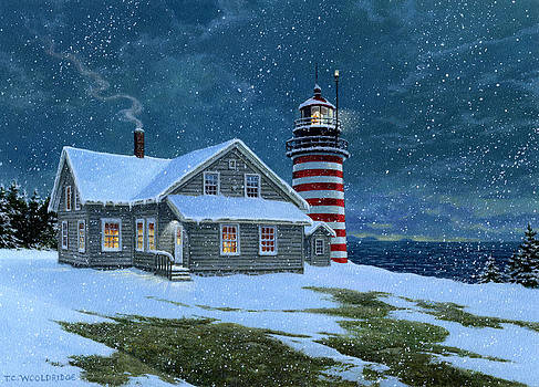 West Quoddy Lighthouse by Tom Wooldridge