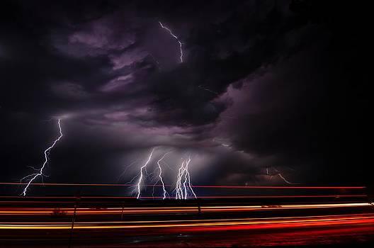 West Texas Lightning Storm by John Dickinson