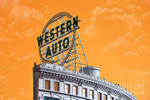 Andee Design - Western Auto Sign Artistic Sky