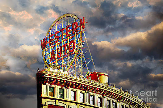 Andee Design - Western Auto Sign Kansas City Chiefs Colors
