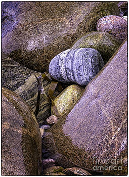 Wet Pebbles by George Hodlin