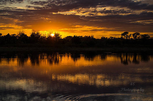 Wetland SunsetTwo by Brian Manley