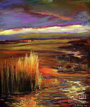 Wetlands sunset IV by Julianne Felton