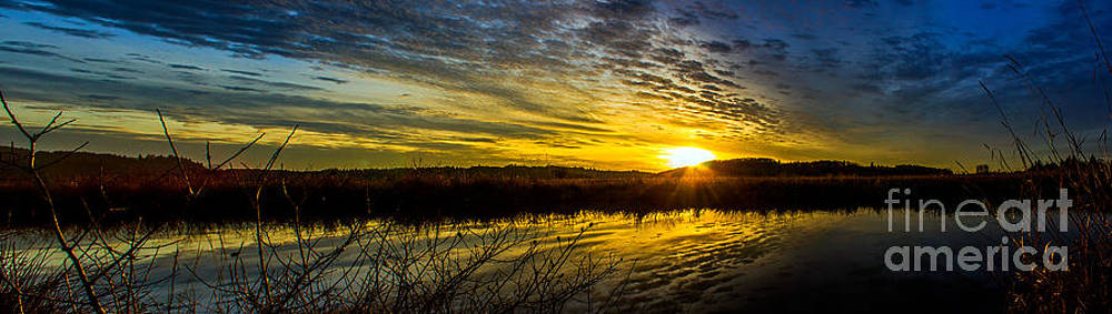 Wetlands Sunset by Michael Cross