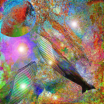 Whale In Space by GANECH Graphics