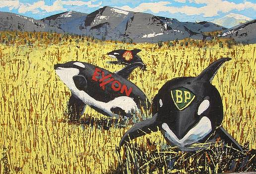 Whales In The Wheat Field by James  Lalepop Becker