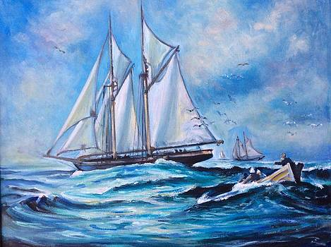Whaling tall ships by Philip Corley