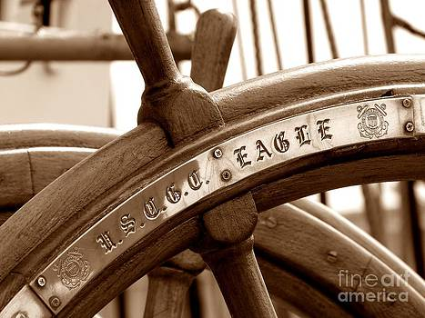 Christine Stack - Wheel on US Coast Guard Cutter Eagle In Portland Maine