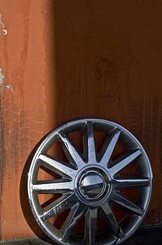 Wheel on Wall by Kevin Duke