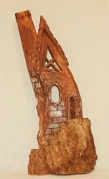 Whimsical Bark House IIII by Russell Ellingsworth