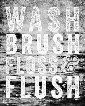 Lisa Russo - Whimsical Bathroom Decor Typography in Black and White