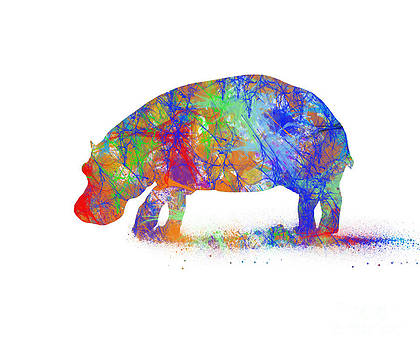 Whimsical Hippo by Trilby Cole
