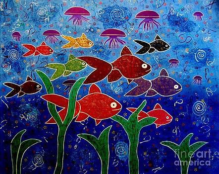 Whimsical Painting- Ocean life by Priyanka Rastogi