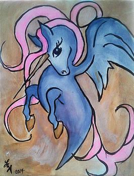 Whimsical Unicorn by Loretta Nash