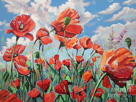 Whispering Poppies by Andrei Attila Mezei