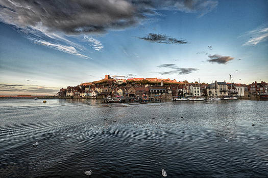 Whitby Harbour at Sunset by Tony Coleby