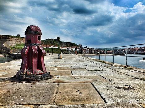 Whitby Harbour UK by Dave Fletcher