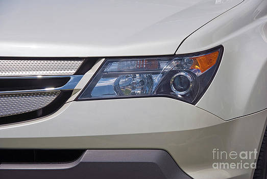 David Zanzinger - White Acura Headlight Close up
