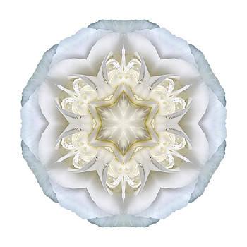 White Begonia II Flower Mandala White by David J Bookbinder
