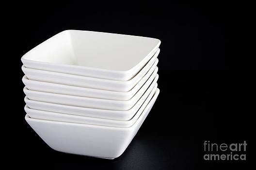 Tim Hester - White Bowls on Black