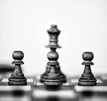White Chess Pieces by Arisha Singh